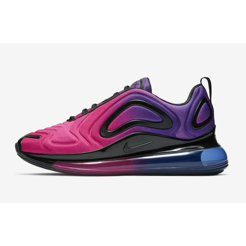 Baskets Nike w air max 720 hyper raisin hyper rose et noir