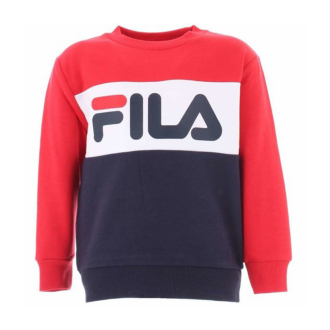 Sweat fila rouge blanc noir