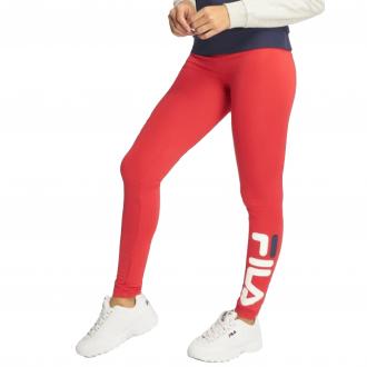 Legging femme fila rouge