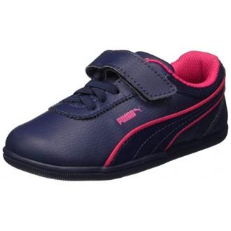 Baskets Puma bleu rouge garcon