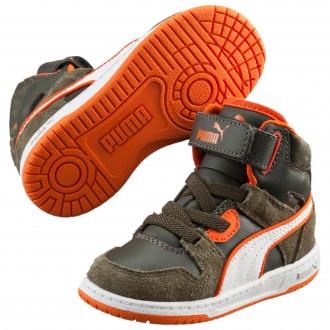 Baskets Puma vert orange...
