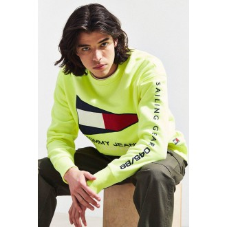 pull tommy jeans jaune vif
