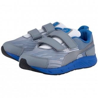 Baskets Puma gris bleu garcon