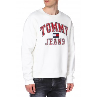 PULL TOMMY JEANS BLANC BLEU...