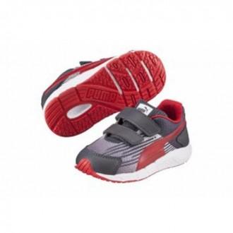 Baskets Puma gris rouge...
