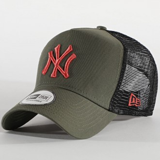 CASQUETTE NY VERT CLAIR ROUGE