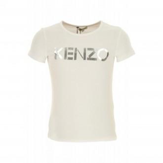 T-shirt Kenzo blanc et argenté
