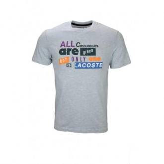 T-shirt Lacoste argent chine