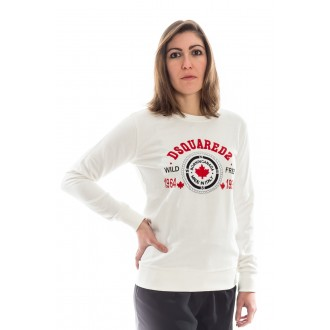 Pull Dsquared blanc rouge...