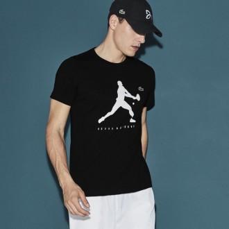 T-shirt Lacoste tennis noir