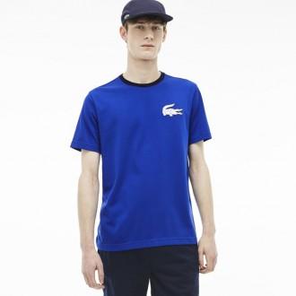 T-shirt Lacoste bleu uni
