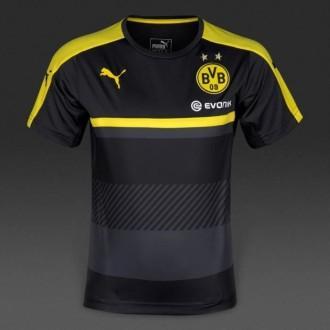 t shirt bvb jaune noir