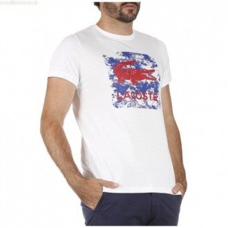 T-shirt Lacoste blanc...