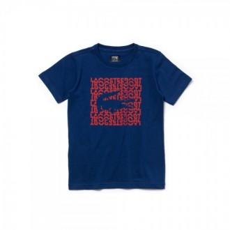 T-shirt Lacoste sport bleu...