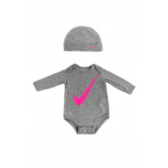 Body Nike gris et rose
