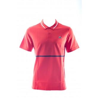 Polo Lacoste orangé/rouge